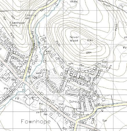 Ordnance Survey 'Landplan' DXF  Vector data - 2km x 2km